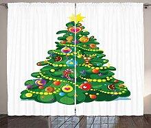 ABAKUHAUS Weihnachten Rustikaler Gardine, Cartoon