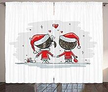 ABAKUHAUS Weihnachten Rustikaler Gardine, Kinder