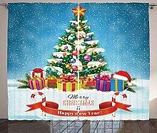 ABAKUHAUS Weihnachten Rustikaler Gardine, Neujahr