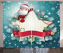 ABAKUHAUS Weihnachten Rustikaler Gardine, Santa