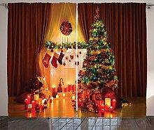 ABAKUHAUS Weihnachten Rustikaler Gardine, Tree
