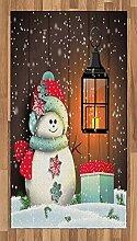ABAKUHAUS Weihnachten Teppich, Garten mit