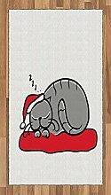 Abakuhaus Weihnachten Teppich, Katze mit