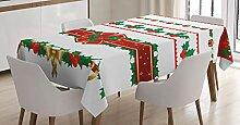 ABAKUHAUS Weihnachten Tischdecke, Ornate Borders