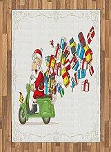 ABAKUHAUS Weihnachtsmann Teppich, Beschleunigung