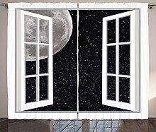 ABAKUHAUS Weltraum Rustikaler Vorhang, Fenster zum