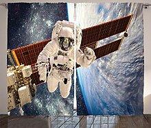 ABAKUHAUS Weltraum Rustikaler Vorhang, Schwerkraft