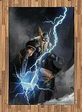 ABAKUHAUS Wikinger Teppich, Thor mit Mjölnir
