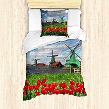 ABAKUHAUS Windmühle Bettbezug Set für