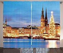ABAKUHAUS Winter Rustikaler Vorhang, Hamburg