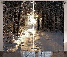 ABAKUHAUS Winter Rustikaler Vorhang,