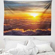 ABAKUHAUS Wolken Wandteppich, Sonnenuntergang