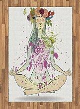 Abakuhaus Yoga Teppich, Mädchen Blumenkranz