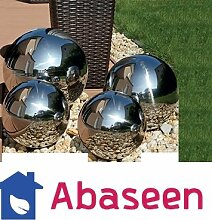 Abaseen Edelstahl Gazing Ball Globes Schwimmende