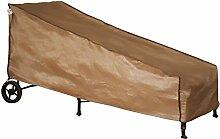 Abba Patio Wasserdichte Schutzhülle für Sonnenliegen und Gartenliegen; Maße 213 x 86 x 86 cm, Farbe: Braun