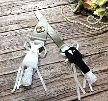 Abbie Home Tortenmesser und Tortenheber für Braut