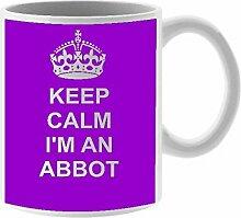 Abbott Keramik Tasse Design auf weiß Keramik