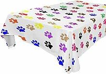 Abbylife Tischdecke mit Hundepfoten Bedruckt, für