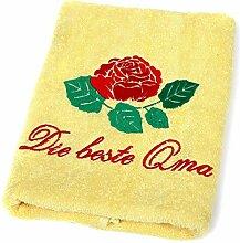 Abc Casa Die Beste Oma Handtuch zum Geburtstag,