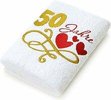 Abc Casa Geschenk-Handtuch zum 50 Geburtstag mit