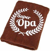 Abc Casa Super Opa Handtuch zum Geburtstag,
