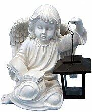 ABC Home Living Gartendeko Engel mit Laterne, Weiß