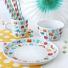 ABC Kindergeschirr | Kinder Porzellan Geschirr-Set