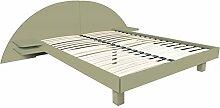 ABC MEUBLES - Bett ARC Holz mit integriertem Kopf und Nachttische - ARC - Taupe, 140x200