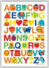 ABC Poster, 50 x 70 cm, byGraziela