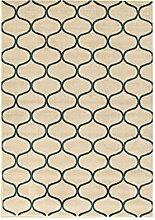 ABC Teppich Morrocan Window beige/blau 133x
