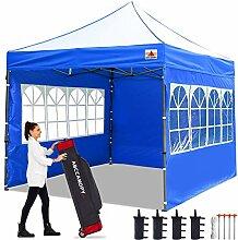 ABCCANOPY Pop-Up-Pavillon mit Seitenwänden und