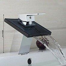 ABDD küchenarmatur Wasserhahn Wasserfall schwarz