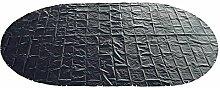Abdeckplane 200g/m² blau/schwarz für 5,30 x 3,20
