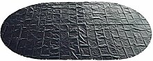 Abdeckplane 200g/m² blau/schwarz für 7,70 x 5,00