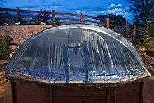 Abdeckung Cabrio-Dome Holzbecken 4,40m rundform Poolheizung Poolüberdachung