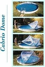 Abdeckung Cabrio-Dome Stahlwandbecken 3,50m rundform Poolheizung Poolüberdachung
