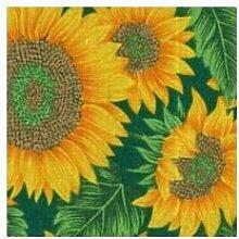 Abdeckung Gartentisch–Vorhang Xtra weiß Sonne Kescher bedruckt 250x 150Sonnenblume/Pink [Xtra weiß]