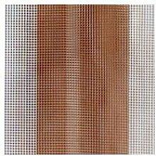 Abdeckung Gartentisch–Vorhang Xtra weiß Sonne Kescher Riga 250x 150Riga braun [Xtra weiß]