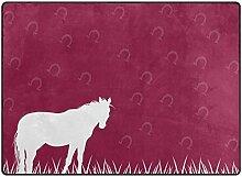 Abdeckung Teppiche Retro White Horse Grass Teppich