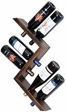 Abe's Woodwork Weinregal aus Holz – Antiker