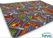 Abenteuer Stadt HEVO® Teppich | Kinderteppich | Spielteppich 200x300 cm