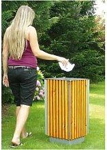 Abfallbehälter für den Außenbereich   Holz  