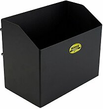 Abfallbehälter Metall schwarz 27x22cm 7L
