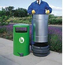 Abfallbehälter TOPSY für den Außenbereich  