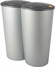 Abfalleimer Duo Bin 2x25l Mülleimer Doppeleimer