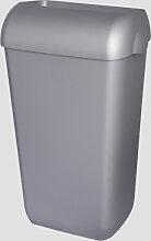 Abfalleimer Metzger 25 Liter silber