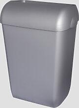 Abfalleimer Metzger 45 Liter silber