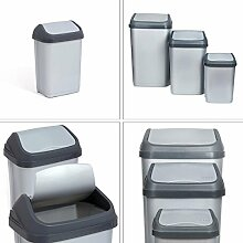 Abfalleimer Mülleimer Mülltonne Schwingdeckel