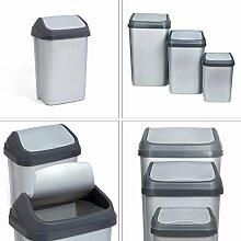 Abfalleimer Mülleimer Mülltonne Schwingdeckel Papierkorb Inhalt 25 Liter