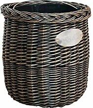 Abfalleimer  Mülleimer Rattan 4L Mülleimer